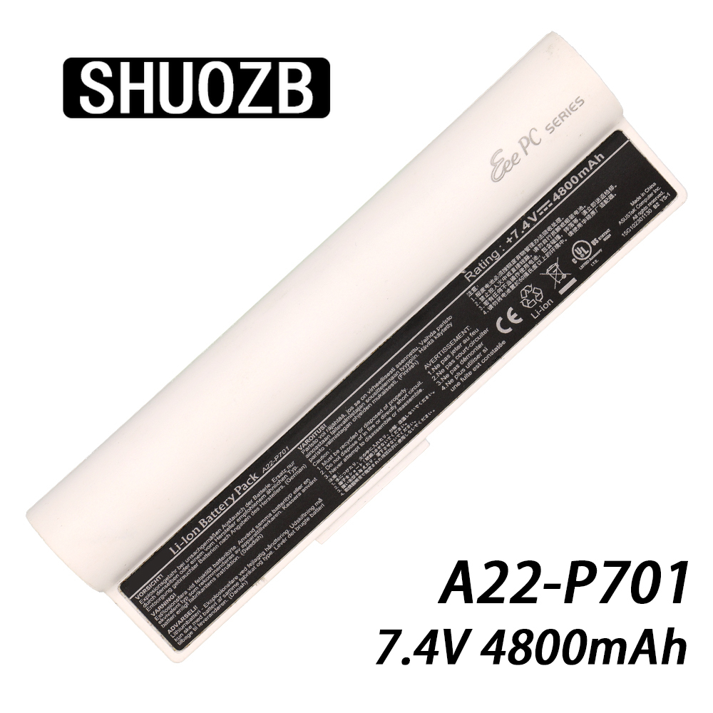 <font><b>4400mAh</b></font> <font><b>7.4V</b></font> A22-P701 A22-P700 A22-700 P22-900 Laptop <font><b>Battery</b></font> For Asus Eee PC 2G 4G 8G 2G 700 701 900 Surf X Notebook <font><b>Batteries</b></font> image