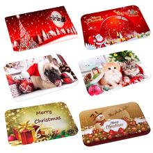 2019 Christmas Mat Outdoor Carpet Doormat Santa Ornaments Christmas Decoration For Home Xmas Navidad Noel New Year Gift 2020
