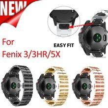 ANBEST 26mm Metal kayış Fenix 5X paslanmaz çelik yedek bileklik Fenix 5X/Fenix 3/Fenix 3 saat