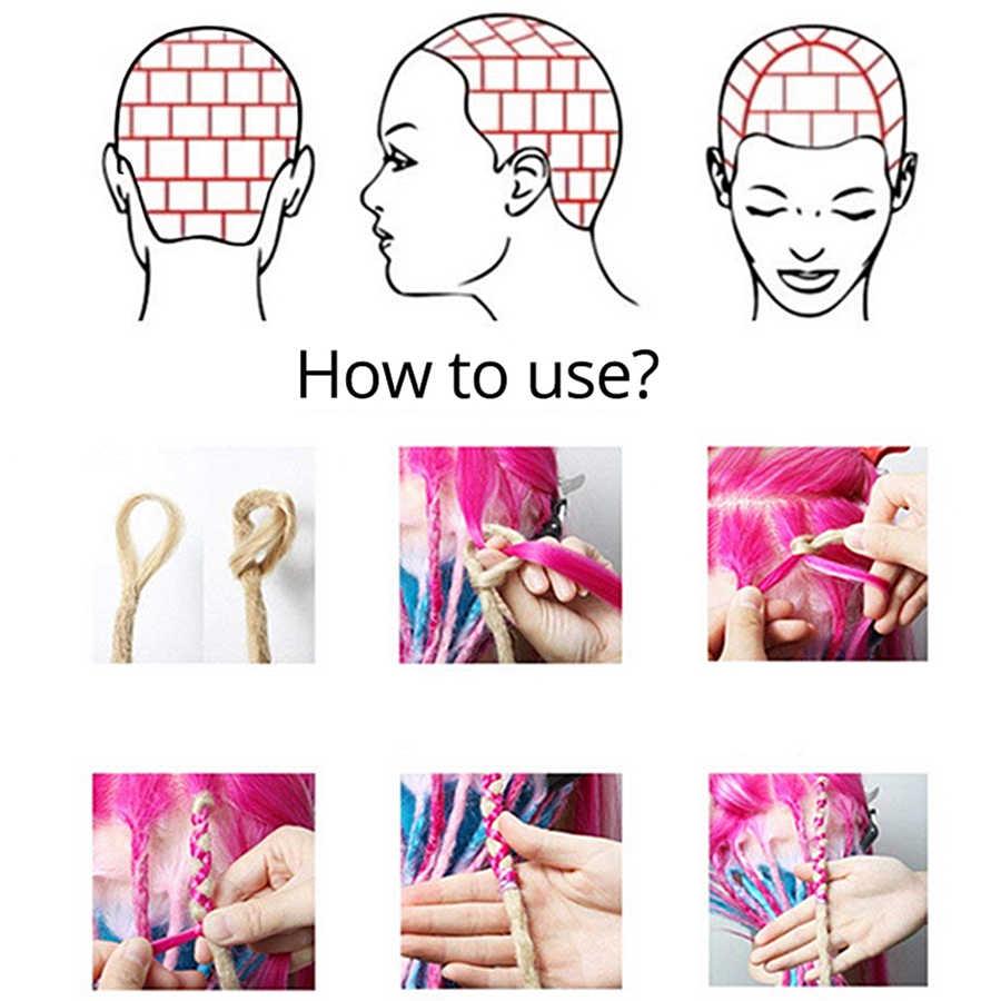 Leeons Afro Dreadlocks Für Männer Schwarz Reggae Synthetische Haar Extensions Grün Flechten Haar Natürliche Dreadlocks 5/10 Steht/ pack