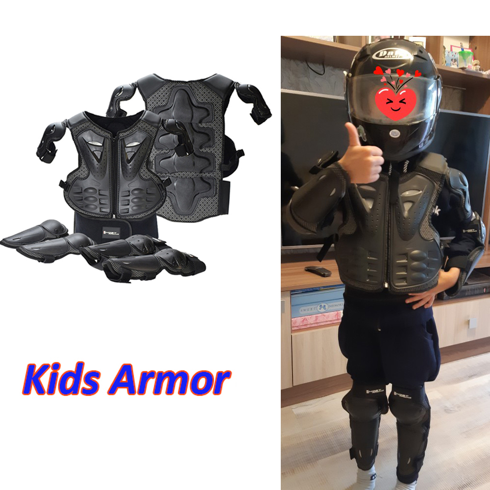 5-13Years Children Armor Hip Pad Protection Motorcycle Kids Suit ATV Dirt Bike Chest Spine Knee Elbow Pad Skiing Hip Padded