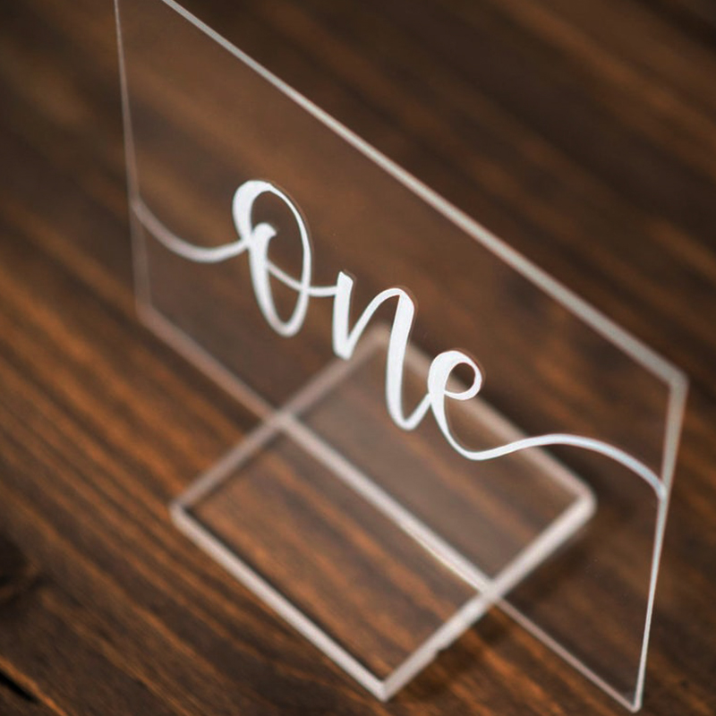 Party Wedding Set Table Number With Wedding Modern Numbers Personalized Holder Table Number Calligraphy Sign For Wood Acrylic