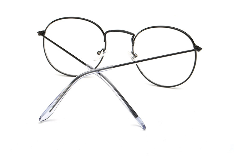 Fashion glasses frame Classic Round Women's Metal frame Optical Glasses Computer blue light Glasses oval eyeglasses frame Retro (13)
