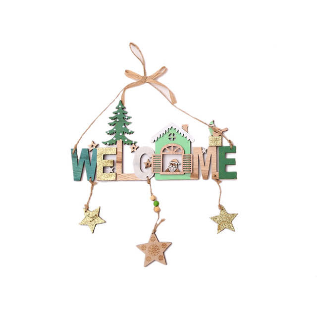Online Shop Christmas Decorations For Home Santa Claus Wooden Wind Chime String House Name Creative Shop Indication Listing Gift Xmas Decor Aliexpress Mobile