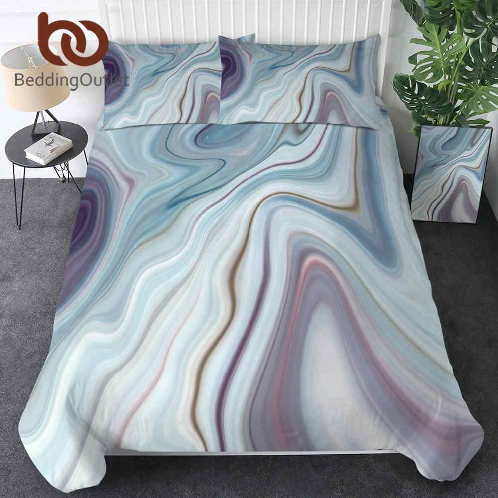 BeddingOutlet Marble Luxury Bedding Set Rainbow Duvet Cover Rock Stone Trendy Quilt Cover Nature Colorful Bedspread King 3-Piece
