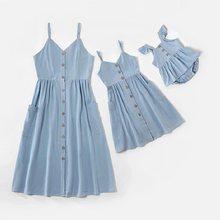 Robe débardeur pour mère et fille, vêtements assortis pour toute la famille, tenues pour tout-petits