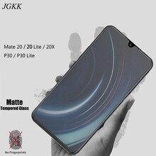 JGKK For Huawei Mate 20 20X Lite Matte Frosted Tempered Glass No Fingerprints P30 Screen Protector Film