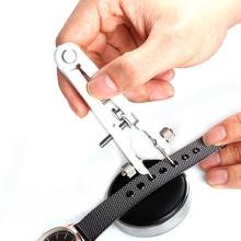 Relógio pulseira alicates padrão de primavera barra removedor bandas de relógio reparação ferramenta remoção ferramentas relógio herramientas horloge gereedsch