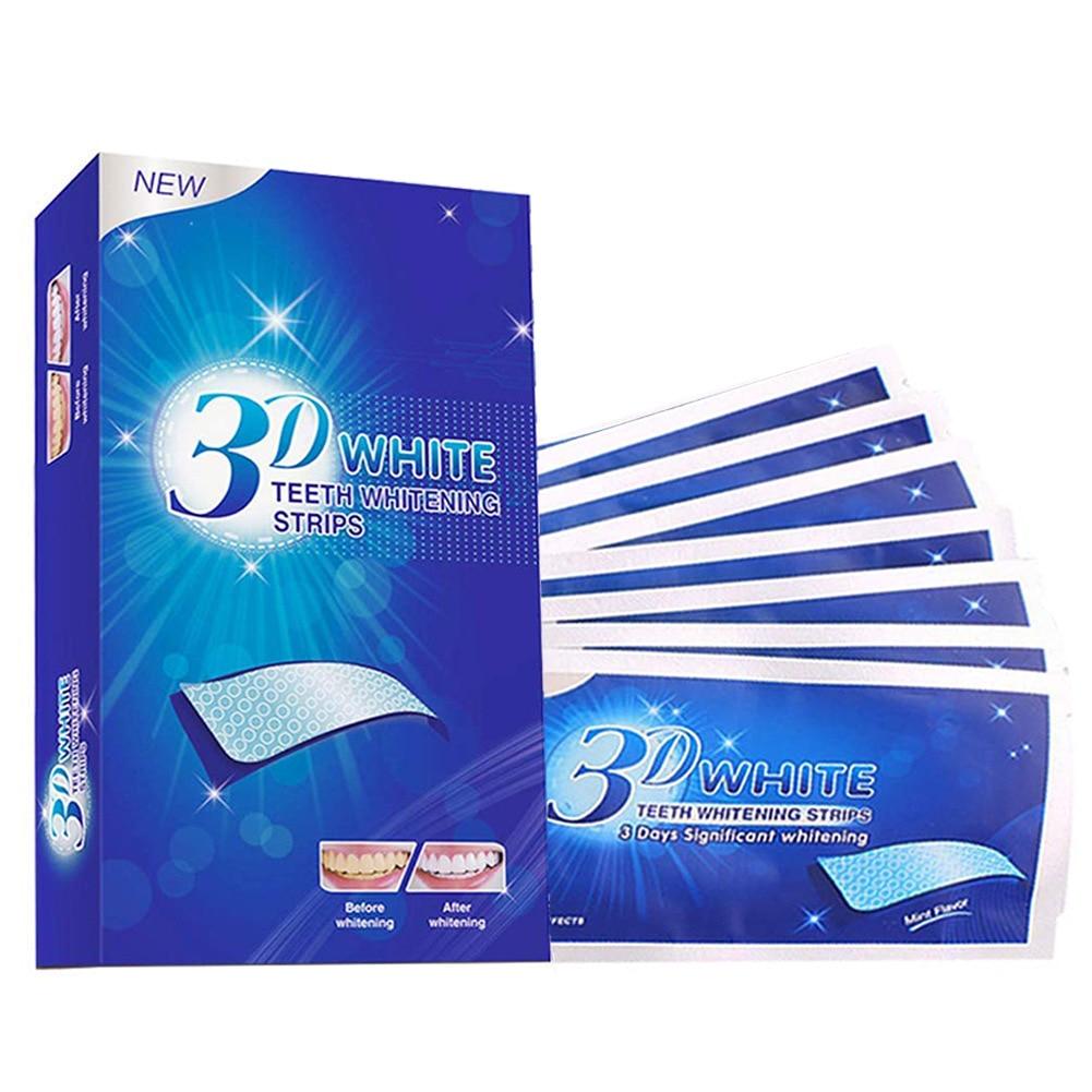 MJ 3D Gel Teeth Whitening Strips White Tooth Dental kit Oral Hygiene Care Strip for false Teeth Veneers Dentist seks Whiten gel(China)