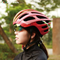 CIGNA integrated molding goggles helmet multi color optional EPS+PC material helmet with UV protection lenses safety cap