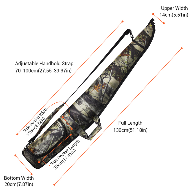 130CM Tactical Gun Bag Case 1200D Military Rifle Bag Outdoor Camouflage Concealed Hunting Accessories Shot Gun Carry Holsters 4
