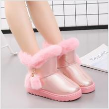New Children Winter Boots For Baby Girls Snow Buckle Boots Kids Shoes Velvet Boy Shoes Warm Plush School Fashion Winter Shoes