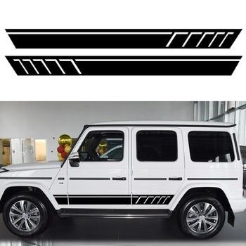 Vinyl Waist Side Skirt Decals Car Stickers and Decals Auto Body Stripe Sticker Car Styling Accessories For Mercedes Benz W463 G недорого