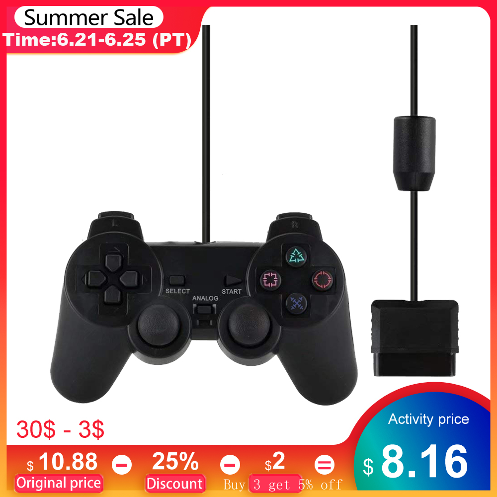 Wired Gamepad for Sony PS2 Controller for Mando PS2/PS2 Joystick for playstation 2 Vibration Shock Joypad Wired USB PC Controle
