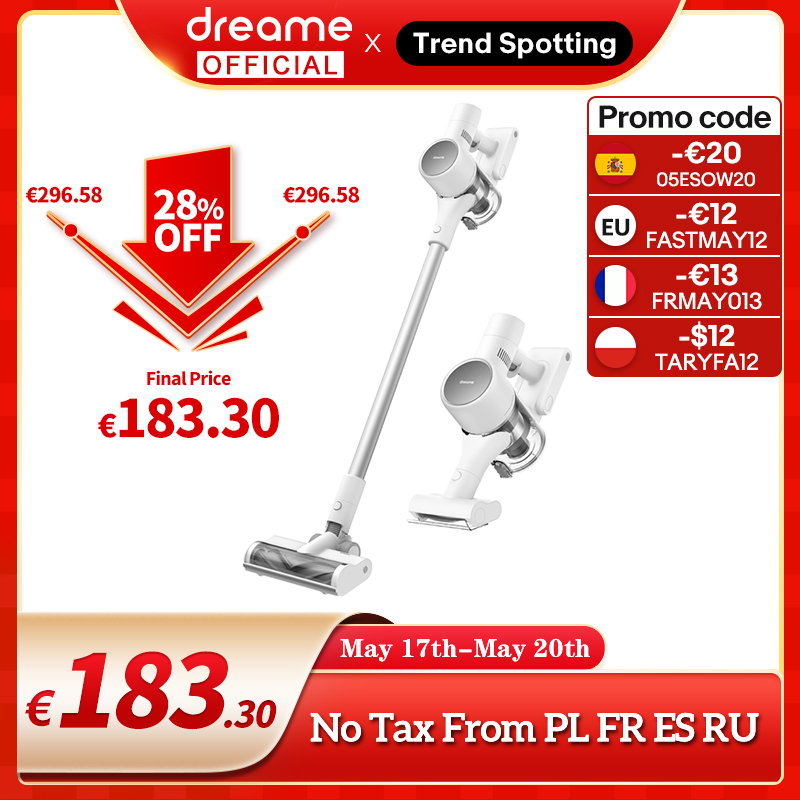 Dreame T10 Handheld Cordless Vacuum Cleaner Intelligent All-surface Brush 20kPa All In One Dust Collector Floor Carpet Aspirator