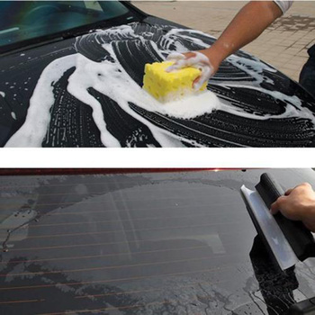 Non-Scratch Flexible Soft Silicone Handy Squeegee Car wrap tools Water Window Wiper Drying Blade Clean Scraping Film Scraper image