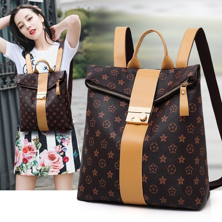 Cross Border For Fashion Casual Versatile Trend Beautiful Hot Selling Europe And America Popular New Style Backpack WOMEN'S Bag