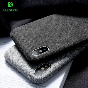 FLOVEME Textile Cloth Phone Case For iPhone 11/11 Pro/11 Pro Max X/XS Max XR 6/6S/7/8