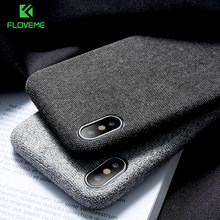 Floveme Kain Tekstil Ponsel Case untuk iPhone 11/11 Pro/11 Pro Max X/X Max XR 6/ 6 S/7/8 Plus Kain Back Cover Fundas Coque(China)