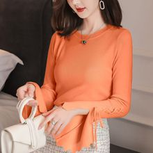 Korean Autumn New Feminine knitted Sweater Fashion Lace Up Woman Tops long Sleeve Shein Pullover 10i