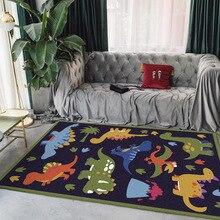 Cartoon style dinosaur giraffe lion children room carpet bedroom plush rug non-slip living floor mat custom made