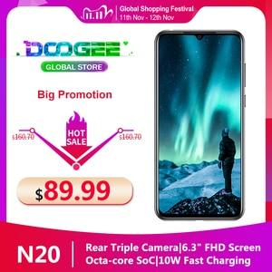 """Image 1 - Doogee N20 Handy 6.3 """"Waterdrop Bildschirm 16MP Triple Hinten Kameras 4350mAh 4GB + 64GB Octa core 10w ladung 4G Smartphone"""