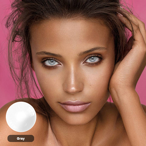 MAGISTER Modern Gray Series Colored Contacts 2pcs/Pair Yearly Contacts Lenses For Eyes Natural Mix-raced Style With Lens Case