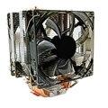 Процессор охладитель 12 см вентилятор 6 Медь теплопроводов холодильник 3Pin радиатора двойной вентилятор охлаждения с светодиодный для LGA 1150/...