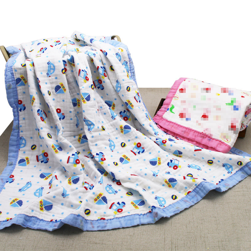 Combed Cotton Washing Gauze Bath Towel Six-layer Pure Cotton Gauze Blanket Blanket New Style Infants Children's Quilt Baby Swadd