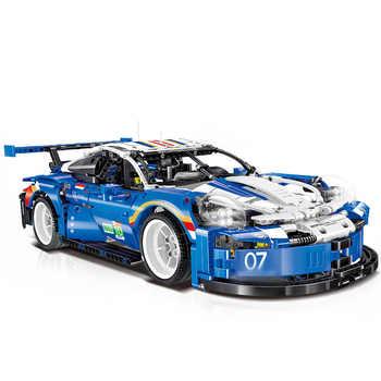 2020 nouvelle technique rallye Super course voiture modèle MOC blocs de construction ensembles Kits briques enfants garçons jouets compatibles 42096