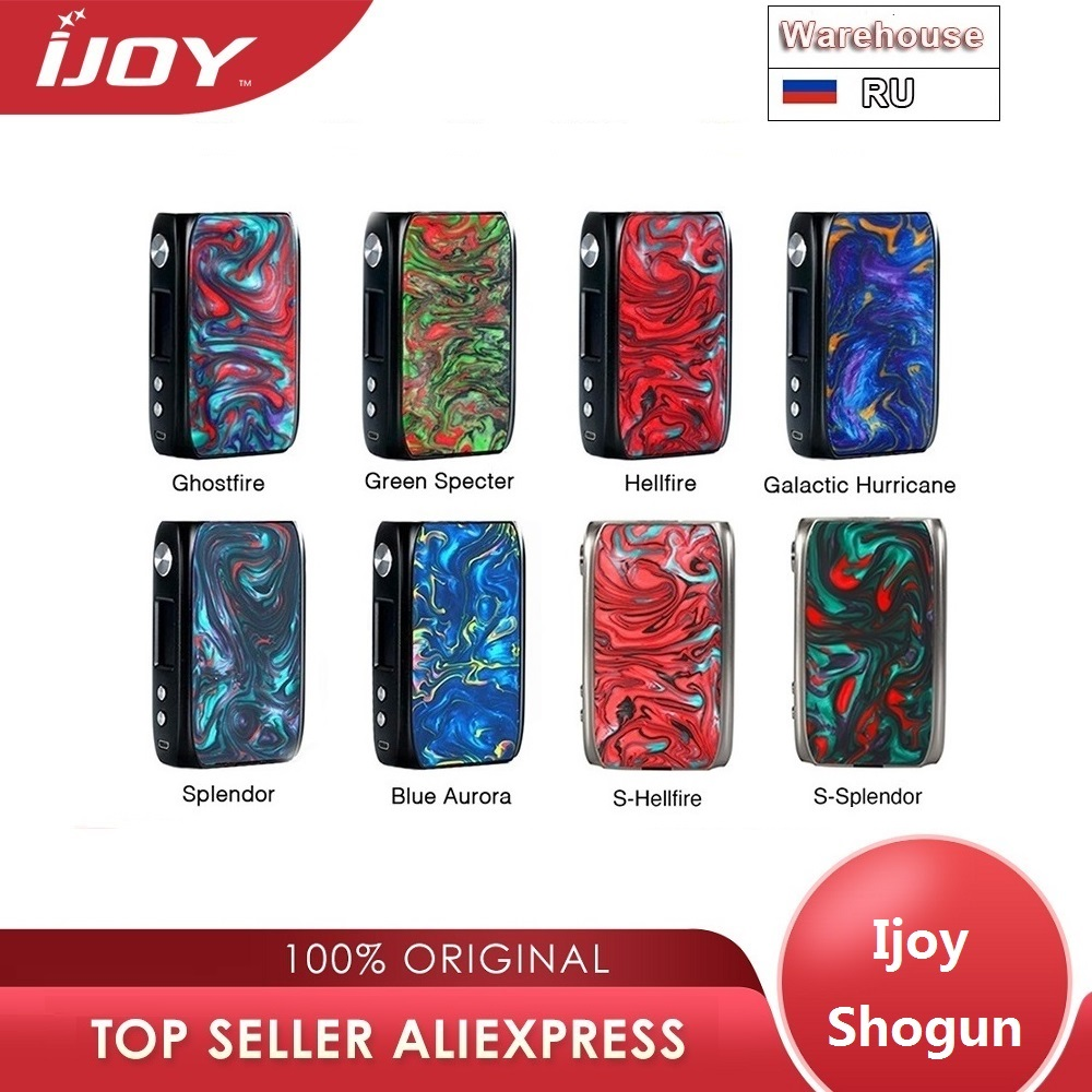 Original IJoy Shogun Univ 180W boîte Mod alimenté par double batterie 18650 Vape Mod vaporisateur e cig Mod boîte Vs glisser 2/Luxe Mod