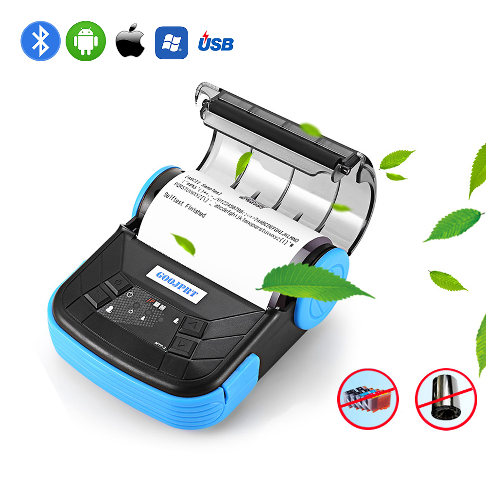 Printer Portable Thermal-Receipt-Printer Bluetooth Android Mini 80mm Wireless Windows title=