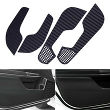 DWCX 4 stuks Carbon Fiber Stijl PVC Auto Deur Anti Kick Pad Protector Trim Cover fit voor Honda Civic 2016 2017 2018 2019(China)