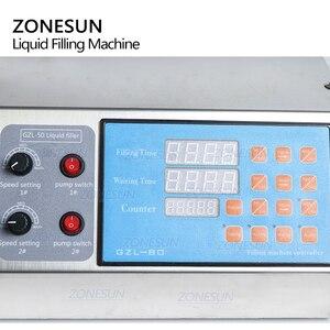 Image 2 - ZONESUN Elektrische Digital Control Pump Flüssige Füllung Machinex für Flüssigkeit Parfüm Wasser Saft Ätherisches Öl Mit 2 Kopf