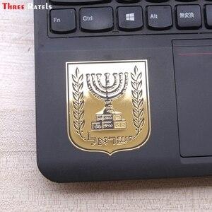 Image 2 - 3 ratels MT 032 # 国章コートの腕のイスラエルのため携帯電話ノートブックニッケル金属車のステッカー