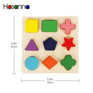 Image 5 - Wooden Geometric Shapes Sorting Math Montessori Puzzle Preschool Learning Educational Game Baby Toddler Toys for Children