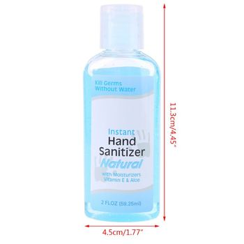 60ml 60ml Travel Portable Mini Hand Sanitizer Anti-Bacteria Moisturizing Fruit-Scented Disposable No Clean Waterless Clear Fluid
