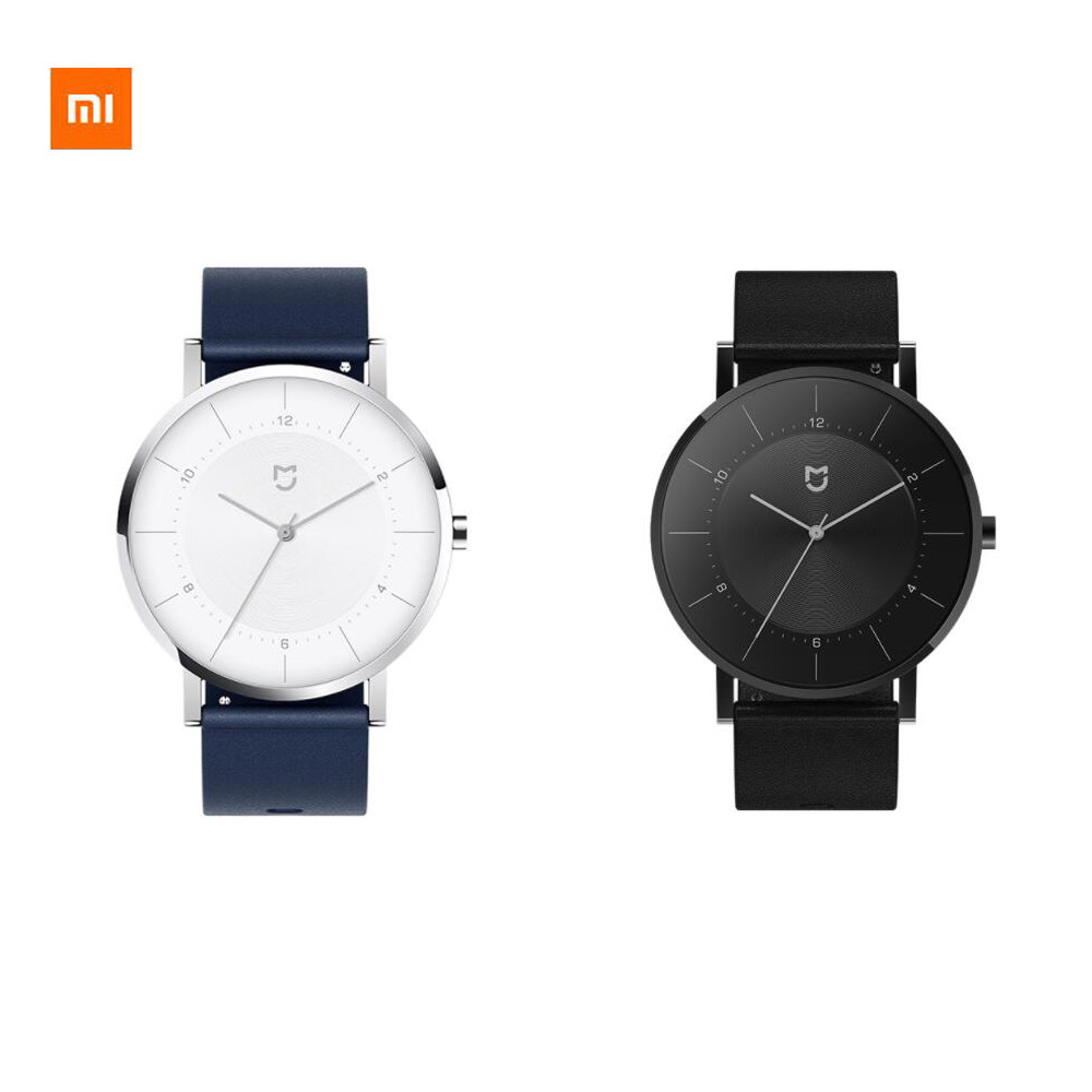 Original <font><b>Xiaomi</b></font> <font><b>Mijia</b></font> Quartz <font><b>Watch</b></font> Classic Edition Imported Movement Stainless Steel Case Leather Strap 2 Years Battery Life image