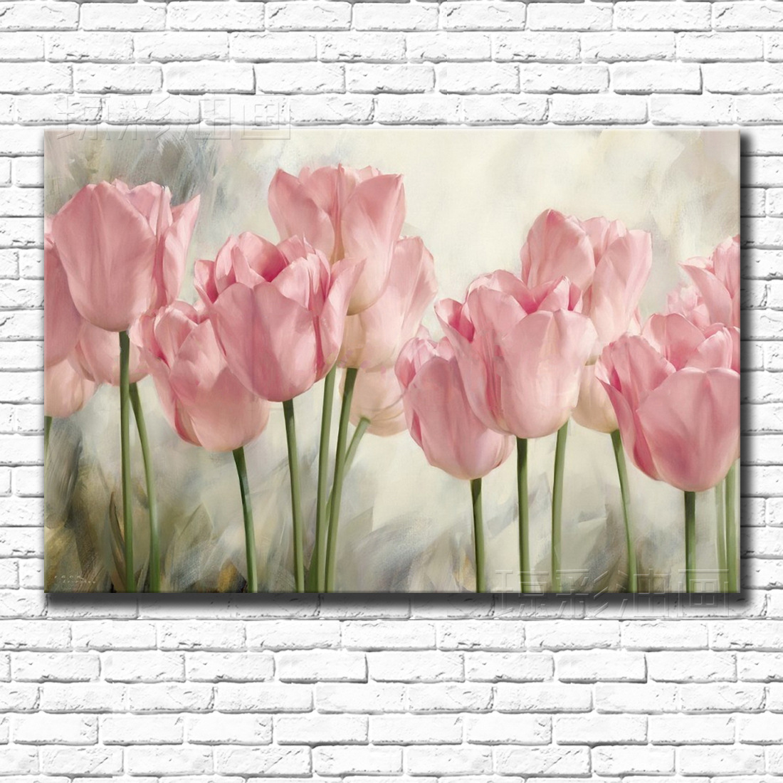 Oil-Painting-Shop Hanging Plant-Flowers Tulip Wall-Art Salon Cuadros Hotel Front title=