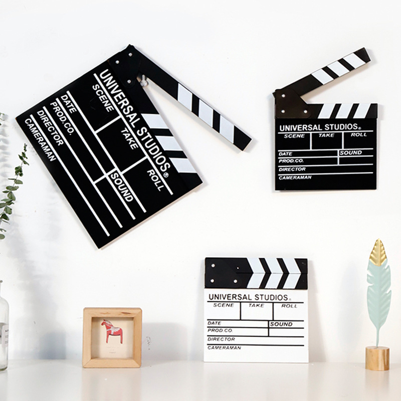 Home DIY Decorations Classical Director Video Scene TV Movie Clapper Board Film Slate Cut Action Prop Party Photobooth Props