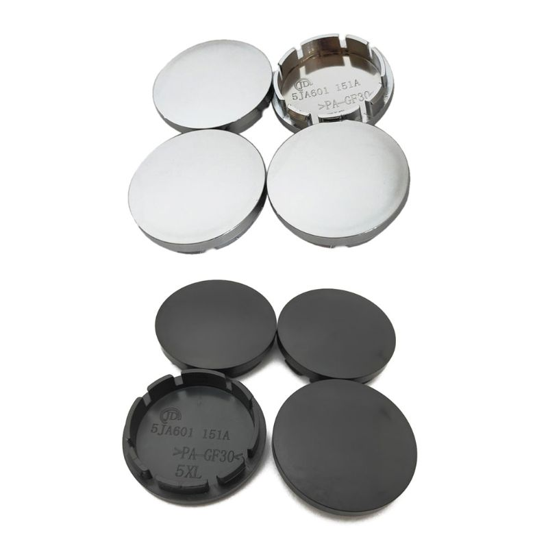 56mm Black ABS Car Wheel Center Hub Caps Set of 4