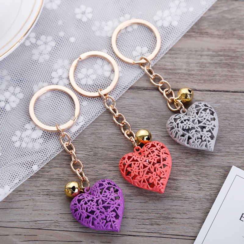 Creux coeur porte-clés mode charme mignon sac à main sac pendentif voiture porte-clés chaîne ornements suspendus saint valentin cadeau porte-clés
