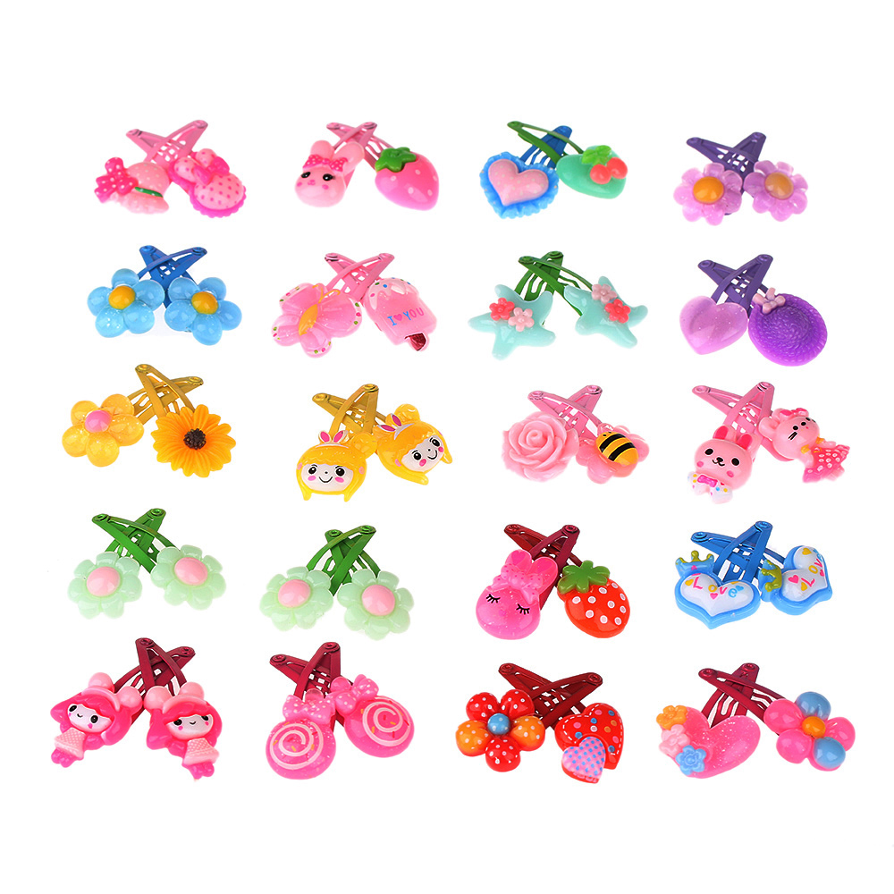 1//5//10Pcs Cute Cartoon Unicorn Butterfly Baby Hair Clips Decor Hair Pin Kid Gift
