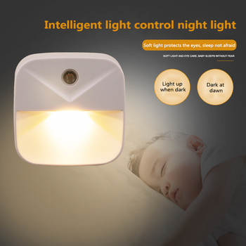 Intelligent Sensor Bedside Lamp LED Lamp Energy-saving Light Control Night Light Room Hallway Toilet Nightlight Christmas Gifts image