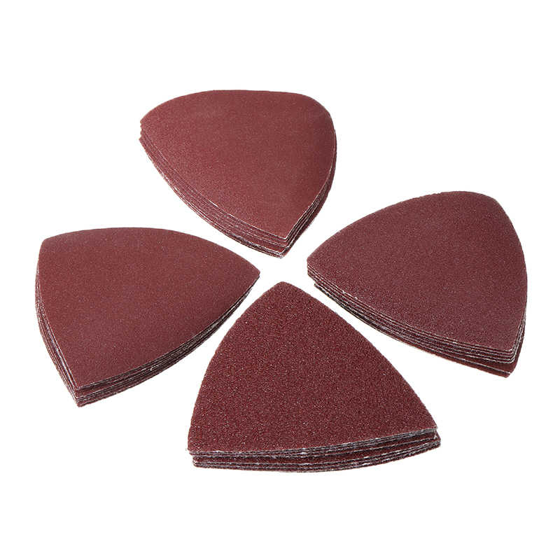 32PCS Triangular Sanding Paper 60/120/180/240 Grit Sand Paper Sheets Abrasive Tools for Oscillating Tool Multitool Woodworking