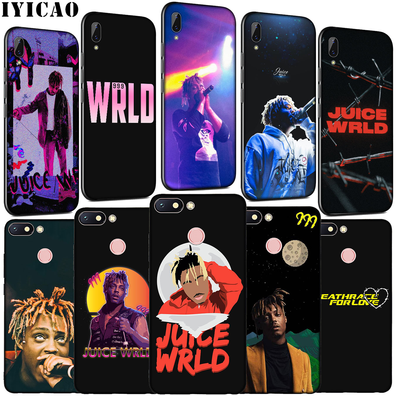 IYICAO Hot singer Juice WRLD <font><b>99</b></font> Soft Silicone Phone Case for <font><b>Xiaomi</b></font> <font><b>Redmi</b></font> Note 8 8T 8A 7 7A 6 6A <font><b>5</b></font> 5A K30 K20 Pro GO S2 Cover image