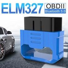 V018 ELM327 V2.2 OBD2 자동 코드 리더 블루투스 5.0 수리 액세서리 미니 OBD II 자동차 진단 스캐너 안 드 로이드/IOS