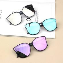 Детские зеркальные линзы, солнцезащитные очки «кошачий глаз», Детские винтажные очки для мальчиков и девочек, очки для путешествий, милые о...