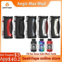 Oryginalny Geekvape Aegis Max Box MOD zasilany przez 21700 18650 baterii jako 2 0 Chipset 100W Vape Mod VS Aegis Solo parownik tanie tanio Elektryczne Mod zeus sub ohm tank Metal Brak Geekvape Aegis Max MOD 18650 and 21700 Battery