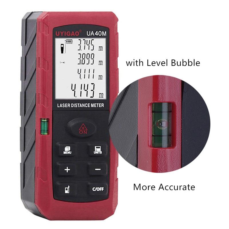 Mini Laser Rangefinder 40m 60m 80m 100m Digital Laser Distance Meter with Level Bubble Laser Measurement Tool 99 Datas